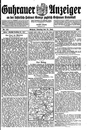 Guhrauer Anzeiger an der Schlesisch-Posener Grenze vom 10.06.1917