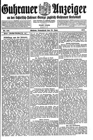 Guhrauer Anzeiger an der Schlesisch-Posener Grenze on Jun 23, 1917