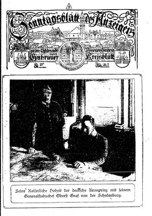 Guhrauer Anzeiger an der Schlesisch-Posener Grenze vom 24.06.1917