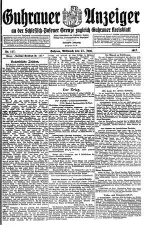Guhrauer Anzeiger an der Schlesisch-Posener Grenze vom 27.06.1917