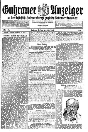 Guhrauer Anzeiger an der Schlesisch-Posener Grenze vom 29.06.1917