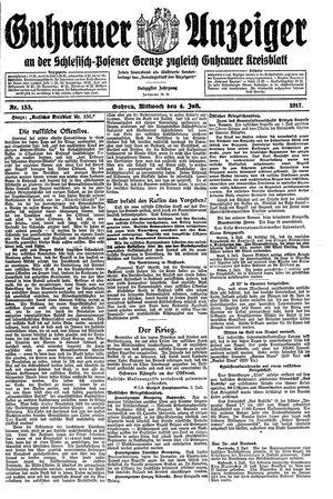 Guhrauer Anzeiger an der Schlesisch-Posener Grenze vom 04.07.1917