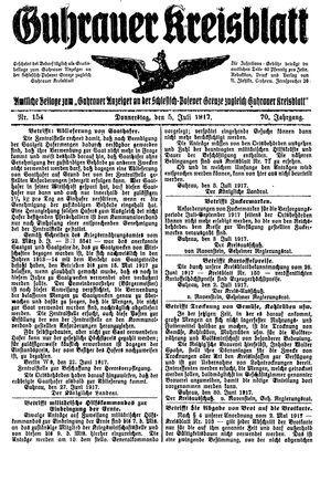 Guhrauer Anzeiger an der Schlesisch-Posener Grenze vom 05.07.1917