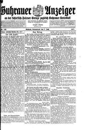 Guhrauer Anzeiger an der Schlesisch-Posener Grenze on Jul 7, 1917