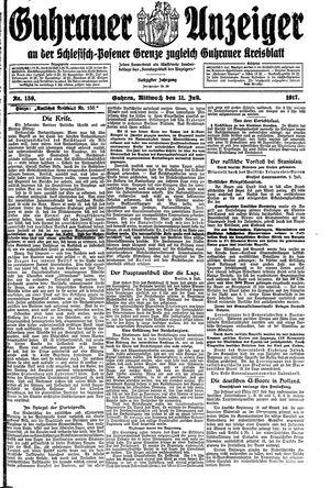 Guhrauer Anzeiger an der Schlesisch-Posener Grenze vom 11.07.1917