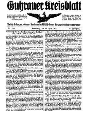 Guhrauer Anzeiger an der Schlesisch-Posener Grenze vom 12.07.1917