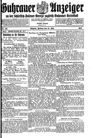 Guhrauer Anzeiger an der Schlesisch-Posener Grenze vom 13.07.1917