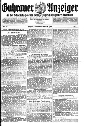Guhrauer Anzeiger an der Schlesisch-Posener Grenze vom 14.07.1917