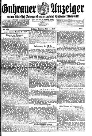 Guhrauer Anzeiger an der Schlesisch-Posener Grenze vom 15.07.1917