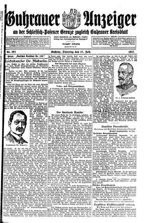 Guhrauer Anzeiger an der Schlesisch-Posener Grenze vom 17.07.1917