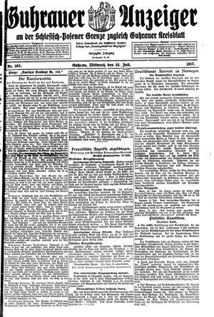 Guhrauer Anzeiger an der Schlesisch-Posener Grenze vom 18.07.1917