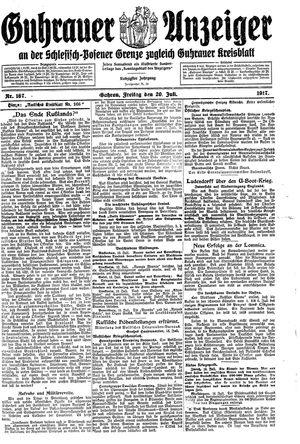 Guhrauer Anzeiger an der Schlesisch-Posener Grenze vom 20.07.1917