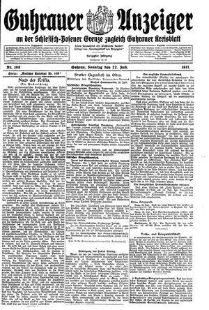 Guhrauer Anzeiger an der Schlesisch-Posener Grenze vom 22.07.1917
