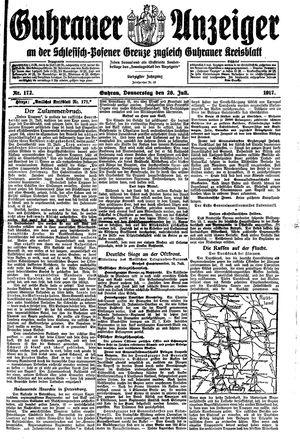 Guhrauer Anzeiger an der Schlesisch-Posener Grenze vom 26.07.1917