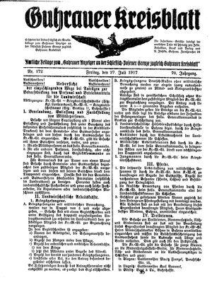 Guhrauer Anzeiger an der Schlesisch-Posener Grenze vom 27.07.1917