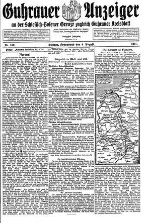 Guhrauer Anzeiger an der Schlesisch-Posener Grenze vom 04.08.1917