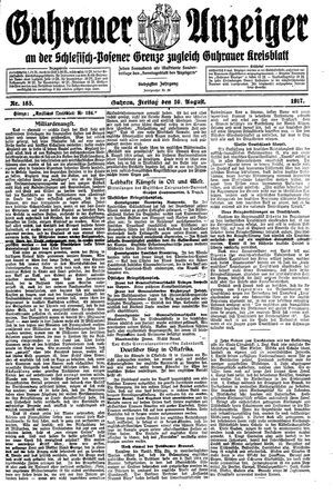 Guhrauer Anzeiger an der Schlesisch-Posener Grenze vom 10.08.1917