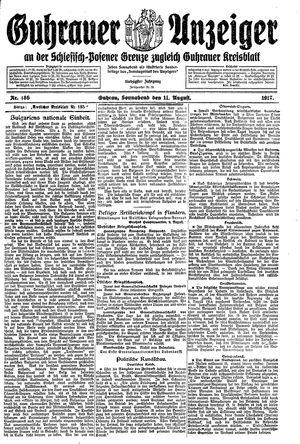 Guhrauer Anzeiger an der Schlesisch-Posener Grenze vom 11.08.1917