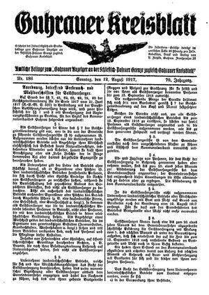 Guhrauer Anzeiger an der Schlesisch-Posener Grenze vom 12.08.1917