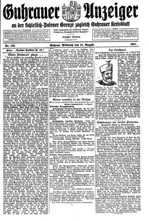 Guhrauer Anzeiger an der Schlesisch-Posener Grenze vom 15.08.1917
