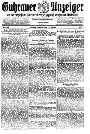 Guhrauer Anzeiger an der Schlesisch-Posener Grenze vom 19.08.1917