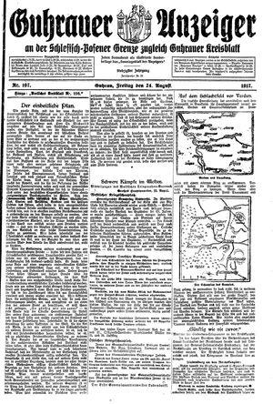 Guhrauer Anzeiger an der Schlesisch-Posener Grenze vom 24.08.1917