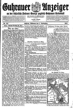 Guhrauer Anzeiger an der Schlesisch-Posener Grenze vom 05.09.1917