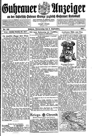 Guhrauer Anzeiger an der Schlesisch-Posener Grenze vom 06.09.1917