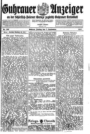 Guhrauer Anzeiger an der Schlesisch-Posener Grenze vom 07.09.1917