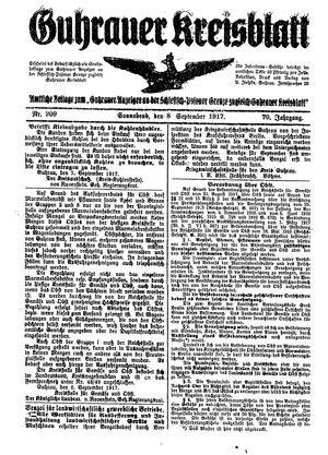 Guhrauer Anzeiger an der Schlesisch-Posener Grenze vom 08.09.1917
