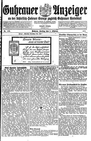 Guhrauer Anzeiger an der Schlesisch-Posener Grenze vom 05.10.1917