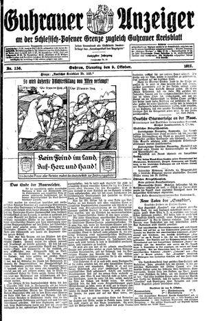 Guhrauer Anzeiger an der Schlesisch-Posener Grenze vom 09.10.1917