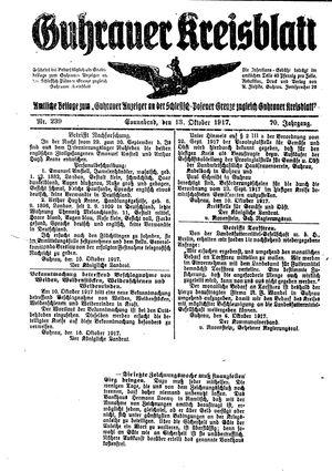 Guhrauer Anzeiger an der Schlesisch-Posener Grenze vom 13.10.1917