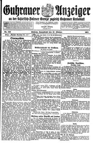 Guhrauer Anzeiger an der Schlesisch-Posener Grenze vom 20.10.1917
