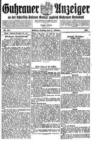 Guhrauer Anzeiger an der Schlesisch-Posener Grenze vom 21.10.1917