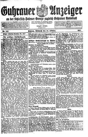 Guhrauer Anzeiger an der Schlesisch-Posener Grenze vom 24.10.1917
