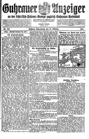 Guhrauer Anzeiger an der Schlesisch-Posener Grenze vom 25.10.1917