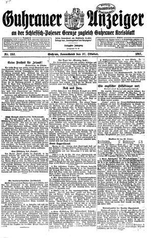 Guhrauer Anzeiger an der Schlesisch-Posener Grenze vom 27.10.1917