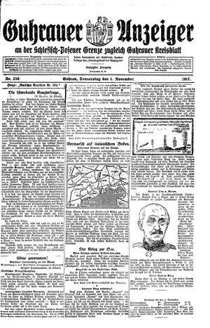Guhrauer Anzeiger an der Schlesisch-Posener Grenze vom 01.11.1917