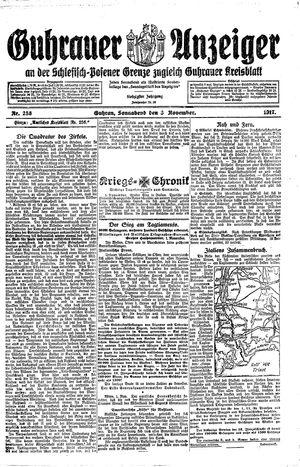 Guhrauer Anzeiger an der Schlesisch-Posener Grenze vom 03.11.1917