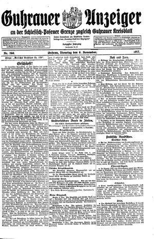 Guhrauer Anzeiger an der Schlesisch-Posener Grenze vom 06.11.1917