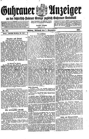Guhrauer Anzeiger an der Schlesisch-Posener Grenze vom 07.11.1917