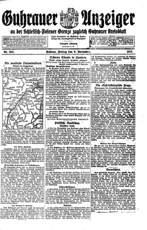 Guhrauer Anzeiger an der Schlesisch-Posener Grenze vom 09.11.1917