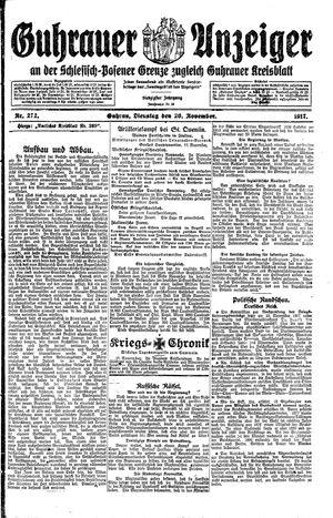 Guhrauer Anzeiger an der Schlesisch-Posener Grenze on Nov 20, 1917