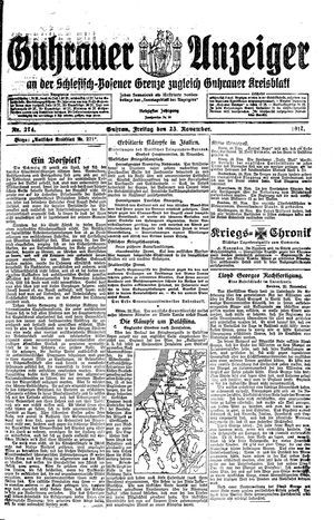 Guhrauer Anzeiger an der Schlesisch-Posener Grenze vom 23.11.1917
