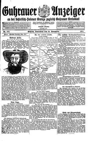 Guhrauer Anzeiger an der Schlesisch-Posener Grenze vom 24.11.1917