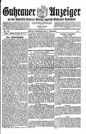 Guhrauer Anzeiger an der Schlesisch-Posener Grenze vom 01.12.1917