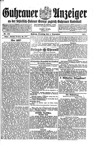 Guhrauer Anzeiger an der Schlesisch-Posener Grenze vom 04.12.1917