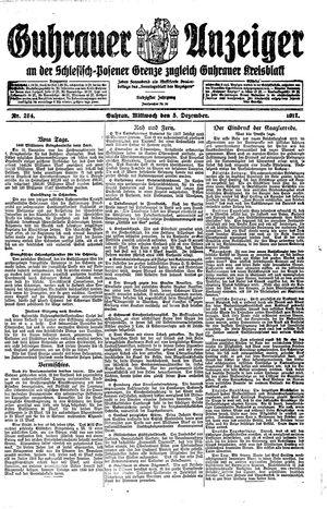 Guhrauer Anzeiger an der Schlesisch-Posener Grenze vom 05.12.1917