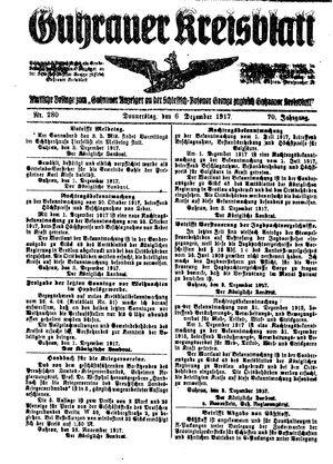 Guhrauer Anzeiger an der Schlesisch-Posener Grenze vom 06.12.1917